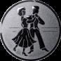 Emblem 25mm 2 Tänzer, silber
