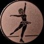 Emblem 25mm Eiskunstläuferin, bronze