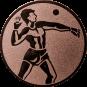 Emblem 25mm Ballwerfer, bronze