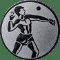 Emblem 25mm Ballwerfer, silber