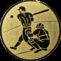 Emblem 25mm Baseball 2 Spieler, gold