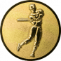 Emblem 25mm Baseball Spieler, 3D gold