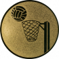Emblem 25mm Basketball m. Korb, gold