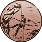 Emblem 25mm Bergsteiger, bronze