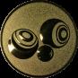 Emblem 25mm Boccia, gold