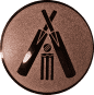 Emblem 25mm Cricket, bronze