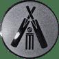 Emblem 25mm Cricket, silber