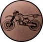 Emblem 25mm Crossbike, bronze