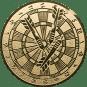 Emblem 25mm Dartscheibe, gold