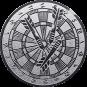 Emblem 25mm Dartscheibe, silber
