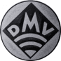 Emblem 25mm DMV, silber