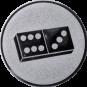 Emblem 25mm Domino, silber