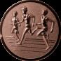 Emblem 25mm Drei Laeufer, bronze 3D