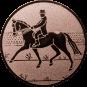 Emblem 25mm Dressurreiter, bronze