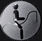 Emblem 25mm Dressurreiter Symbol, silber