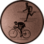 Emblem 25mm Duathlon, bronze
