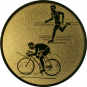 Emblem 25mm Duathlon, gold