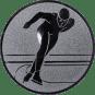 Emblem 25mm Eisschnelllauf, silber