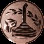 Emblem 25mm Eisstockschießen 1, bronze