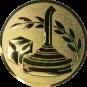 Emblem 25mm Eisstockschießen 1, gold