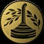Emblem 25mm Eisstockschießen 2, gold