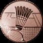 Emblem 25mm Federball m. Netz, bronze