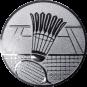 Emblem 25mm Federball m. Netz, silber