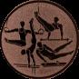 Emblem 25mm Geräteturner, bronze
