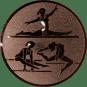 Emblem 25mm Geräteturnerin, bronze