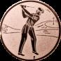Emblem 25mm Golfer, bronze