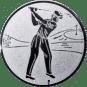 Emblem 25mm Golfer, silber