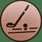 Emblem 25mm Golfschläger, bronze
