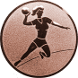 Emblem 25mm Handball Werferin, bronze