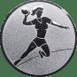Emblem 25mm Handball Werferin, silber