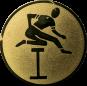 Emblem 25mm Hürdenlauf, gold