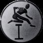 Emblem 25mm Hürdenlauf, silber