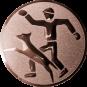 Emblem 25mm Hundesport mit Führer, bronze
