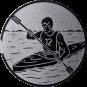 Emblem 25mm Kajakfahrer, silber