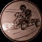 Emblem 25mm Kartfahrer 1, bronze
