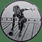 Emblem 25mm Keglerin, silber