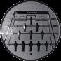Emblem 25mm  Kickertisch, silber