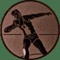 Emblem 25mm Kugelstossen, bronze