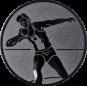 Emblem 25mm Kugelstossen, silber