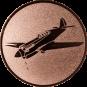 Emblem 25mm Kunstflugzeug, bronze