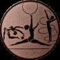Emblem 25mm Kunstturnen, bronze