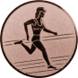 Emblem 25mm Laeuferin, bronze