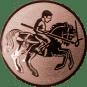 Emblem 25mm Lanzen-Reiter, bronze