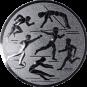 Emblem 25mm Mehrkampf, silber