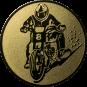 Emblem 25mm Motorradfahrer 2, gold