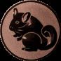 Emblem 25mm Nager, bronze